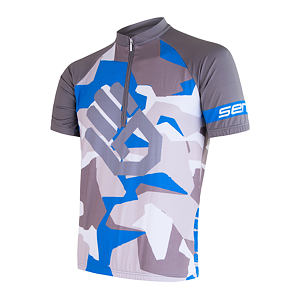 SENSOR CYCLING JERSEY SS MEN BLUE CAMO