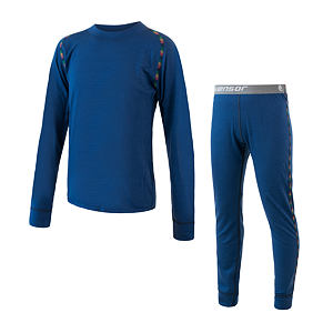 MERINO AIR SET tee ls + underpants YOUTH dark blu