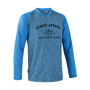 SENSOR CYCLE jersey LS MEN blu CHARGER