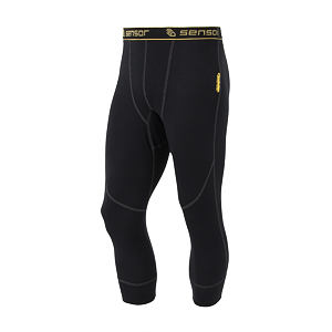 SENSOR DOUBLE FACE UNDERPANTS 3/4 MEN BLACK