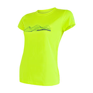 SENSOR COOLMAX FRESH PT tee ss WOM reflex yel mountains