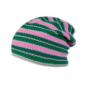 SENSOR CAP STRIPES PINK/GREEN