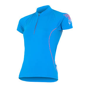 SENSOR CYCLING JERSEY SS WOM BLUE ENTRY