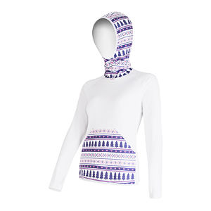 SENSOR TECNOSTRETCH SWEATSHIRT HOODED WOM WHITE PATTERN