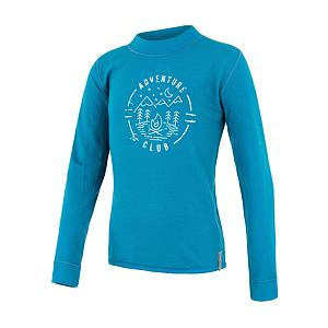 SENSOR MERINO DF tee ls YOUTH blu club