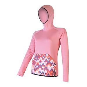 SENSOR TECNOSTRETCH fleece hooded WOM strawberry ice pattern