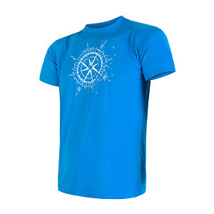 SENSOR COOLMAX PT TEE SS MEN BLUE COMPASS