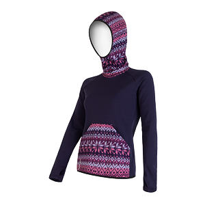 SENSOR TECNOSTRETCH SWEATSHIRT HOODED WOM PURPLE PATTERN