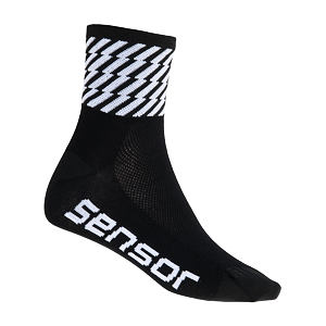SENSOR RACE SOCKS BLACK FLASH