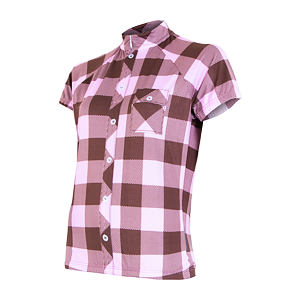 SENSOR CYCLING JERSEY SS WOM PINK SQUARE