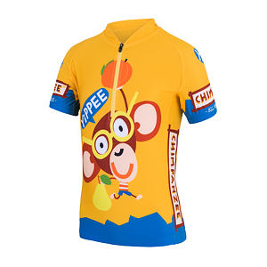 SENSOR CYCLING JERSEY SS YOUTH YELLOW CHIMPANZEE