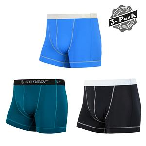 SENSOR COOLMAX 3-PACK BOXERS MEN BLACK/SAPHIRE/BLUE