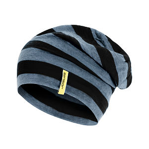 SENSOR BEANIE MERINO WOOL BLACK STRIPES