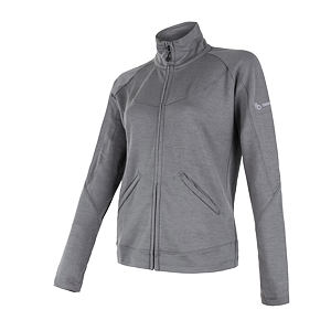 SENSOR MERINO UPPER fleece full zip WOM gry