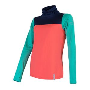 SENSOR COOLMAX THERMO sweatshirt WOM coral/grn/blu