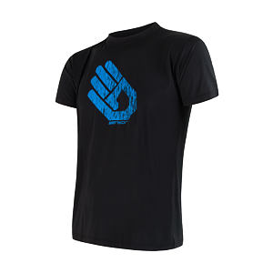 SENSOR COOLMAX PT TEE SS MEN BLACK HAND