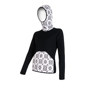 SENSOR TECNOSTRETCH SWEATSHIRT HOODED WOM BLACK PATTERN