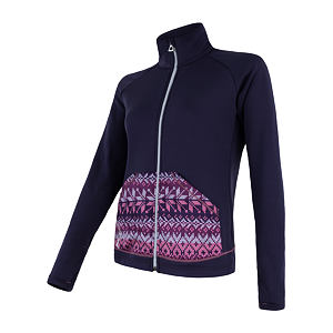 SENSOR TECNOSTRETCH fleece full zip WOM pur/pattern