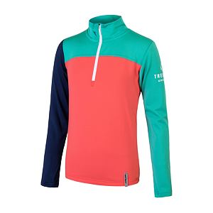 SENSOR COOLMAX THERMO tee ls YOUTH coral/grn/blu