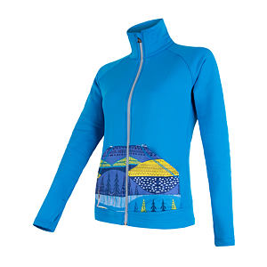 SENSOR TECNOSTRETCH fleece full zip WOM blu/pattern