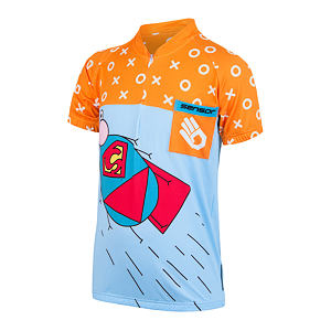 SENSOR CYCLING JERSEY SS YOUTH BLUE/ORANGE ZUPAMAN