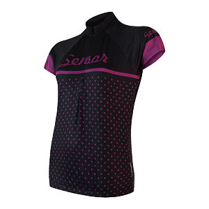 SENSOR CYCLE jersey WOM blk DOTS