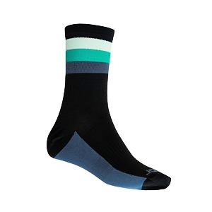 SENSOR SOX blk/grn COOLMAX SUMMER STRIPE
