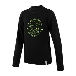 SENSOR MERINO DF tee ls YOUTH blk club