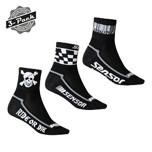 SENSOR RACE SOCKS 3-PACK CODE, CHESS, PIRATE