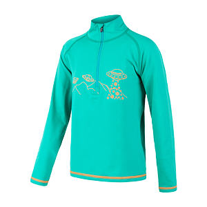 SENSOR THERMO tee ls zip YOUTH sea grn/print