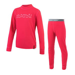 SENSOR DOUBLE FACE SET tee ls + underpants YOUTH magenta