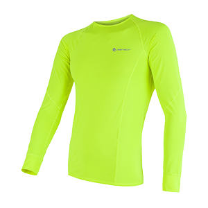 SENSOR COOLMAX TEE LS MEN REFLEX YELLOW