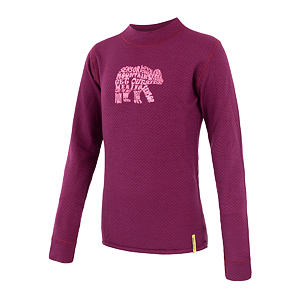 SENSOR MERINO DF tee ls YOUTH lilla bear