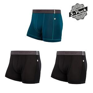 SENSOR COOLMAX TECH 3-PACK boxers MEN blk/saphire