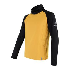 SENSOR COOLMAX THERMO sweatshirt MEN mustard/blk