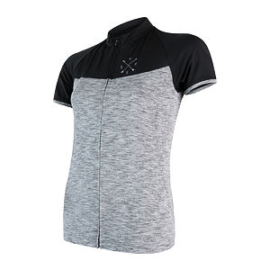 SENSOR CYCLE jersey full zip WOM gry/blk MOTION