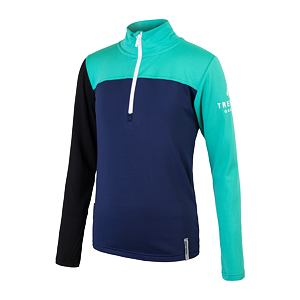 SENSOR COOLMAX THERMO tee ls YOUTH deep blue/grn/blk