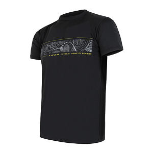 SENSOR COOLMAX PT TEE SS MEN BLACK GPS