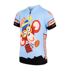 SENSOR CYCLING JERSEY SS YOUTH BLUE CHIMPANZEE
