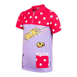 SENSOR CYCLING JERSEY SS YOUTH BLUE/PINK SUN DREAM