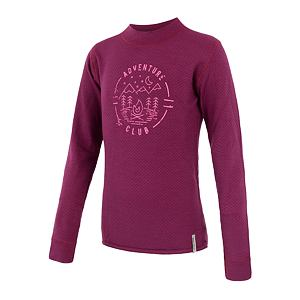 SENSOR MERINO DF tee ls YOUTH lilla club