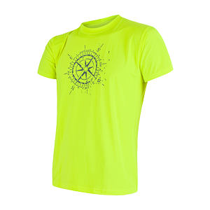 SENSOR COOLMAX PT TEE SS MEN REFLEX YELLOW COMPASS