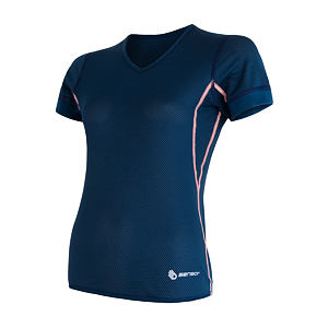 SENSOR COOLMAX AIR TEE SS V-NECK WOM DARK BLUE