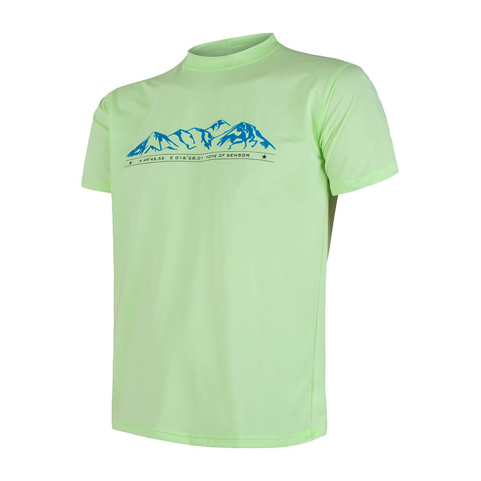 SENSOR COOLMAX FRESH PT tee ss MEN paradise grn mountains