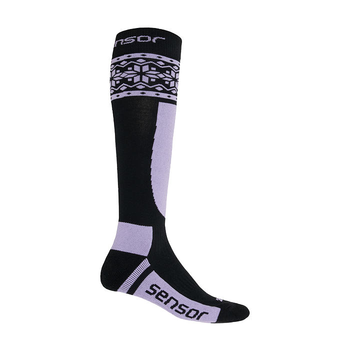 SENSOR sox blk/pur THERMOSNOW NORWAY