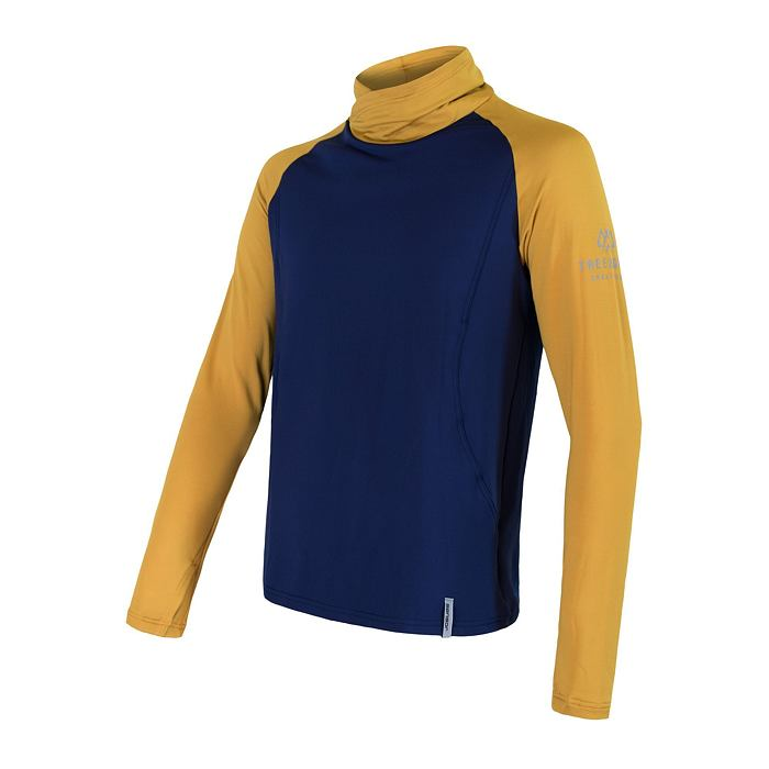SENSOR COOLMAX THERMO sweatshirt MEN deep blue/mustard