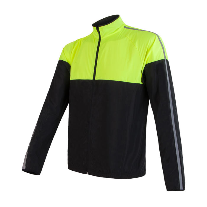 SENSOR NEON JACKET MEN BLACK/REFLEX YELLOW