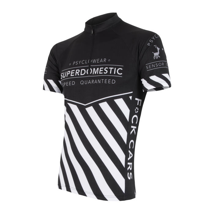 SENSOR CYCLING JERSEY SS MEN BLACK SUPERDOMESTIC