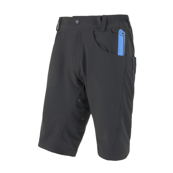SENSOR CYCLING SHORTS LOOSE MEN BLACK CHARGER
