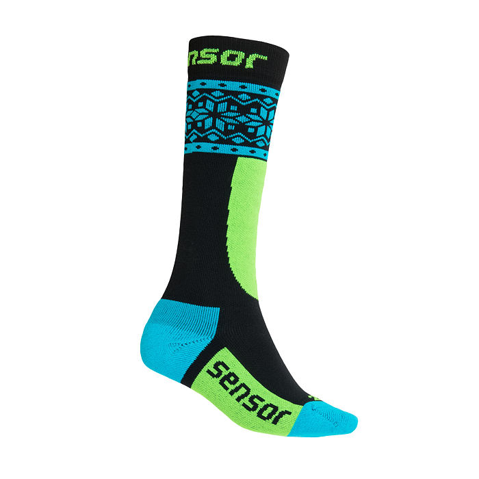 SENSOR SOX YOUTH blk/blu THERMOSNOW NORWAY
